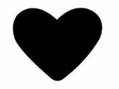Vysekávačka papiera 5 cm - srdce