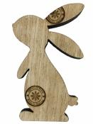 Drevený výrez 6 cm zajac - prírodný