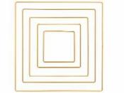 Kovový základ na lapač snov  štvorec 30cm - zlatý