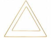 Kovový základ na lapač snov trojuholník 30cm - zlatý