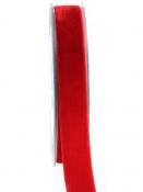 Obojstranná zamatová stuha 15mm - červená