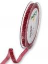 Glitrovaná zamatová stuha 10mm - ružová