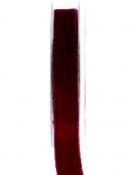 Obojstranná zamatová stuha 15mm - vínová červená