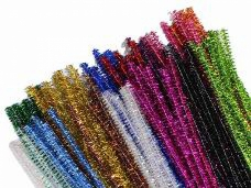 Metalický žinilkový drôt 100 ks - strieborný