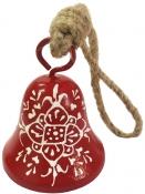 Kovový zvonček 6,5cm - červený