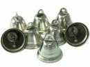 Kovový zvonček 2cm - strieborný