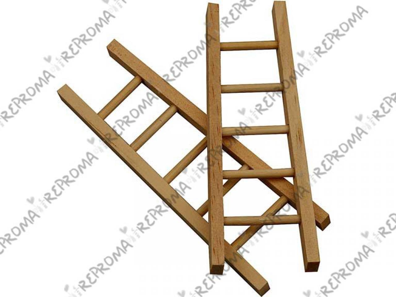 Mini drevený rebrík